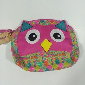 Pink Owl Dome Cosmetic Bag